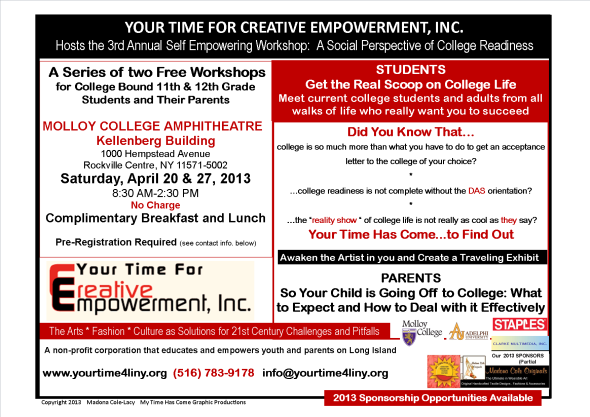 3rd Annual Self-Empowering Workshop for College-Bound High School Students and their Parentsflyermarch
