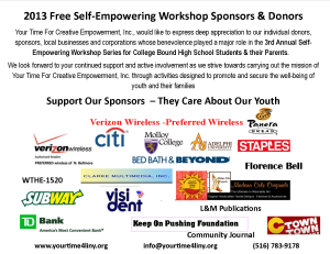 Thank You Sponsors and Donors (logos)