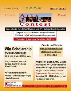 latest Your Time For Creative Empowerment Arts Contest 2014