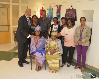 Standing: James Lacy, Rita Weaver, Luther Weaver, Blessings Williams, Donna Winfield, Janet Gooding, Chrisante Benzan. Seated: Madona Cole-Lacy and her mother, Mrs. Evelyn Cole